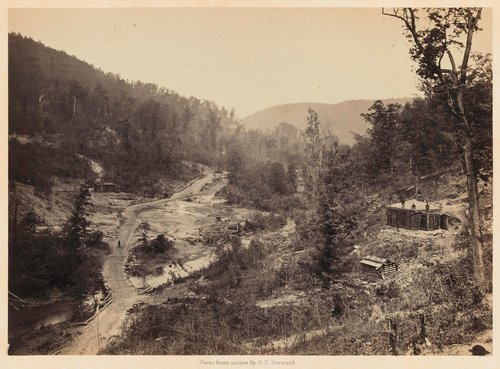 Whiteside Valley below the Bridge, from Photographic Views of Sherman's Campaign