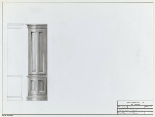 Glassware cabinet for Mr. and Mrs. Les Allen
