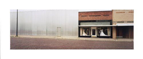 Bridal shop, sided building, downtown, Hays, Ellis Co., Kansas, 1994