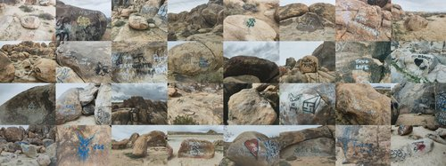 Tagged Boulders, Lucerne Valley, California