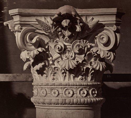 Chapiteau des colonnes du grand foyer, plate 28, from Le Nouvel Opéra de Paris: Sculpture ornementale