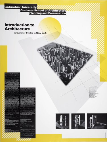 Columbia University, Introduction to Architecture poster