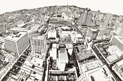 Study for Looking at 1998 San Francisco from the Top of 1925