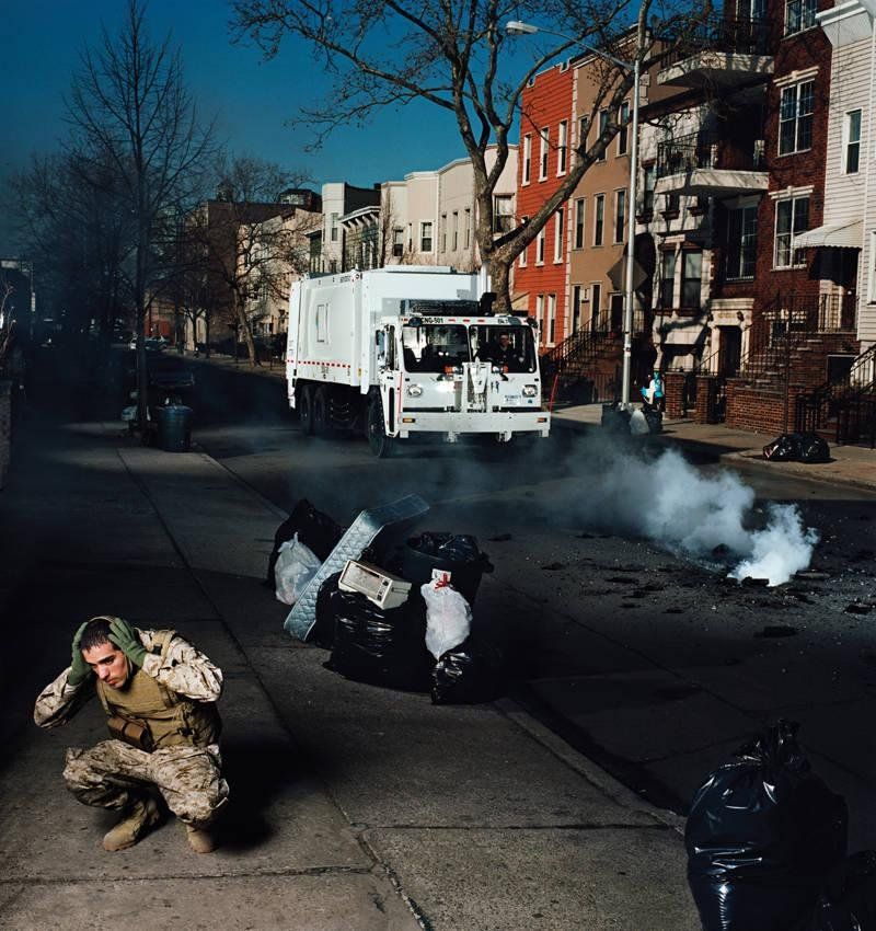 image of 'Former Sergeant Jose Adames, U.S. Marine Corps Recon, Stinger Gunner, 1st Platoon, Alpha Company, veteran of Operation Iraqi Freedom; Brooklyn, NY, February 2009, from the series Soldiers, Stories from Iraq and Afghanistan'