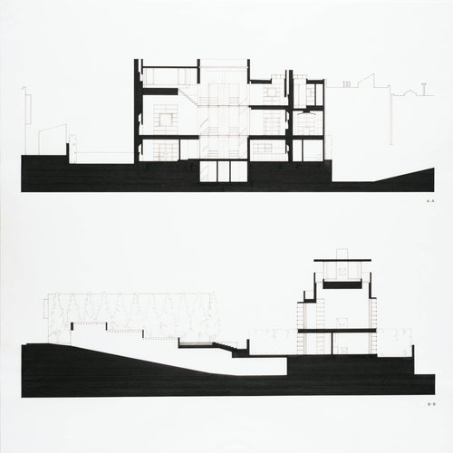 House for Nancy and Steven Oliver, San Francisco, California (Building Sections)