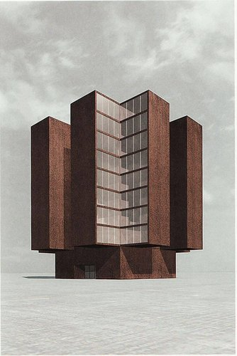Silent Architecture [Library rendering]