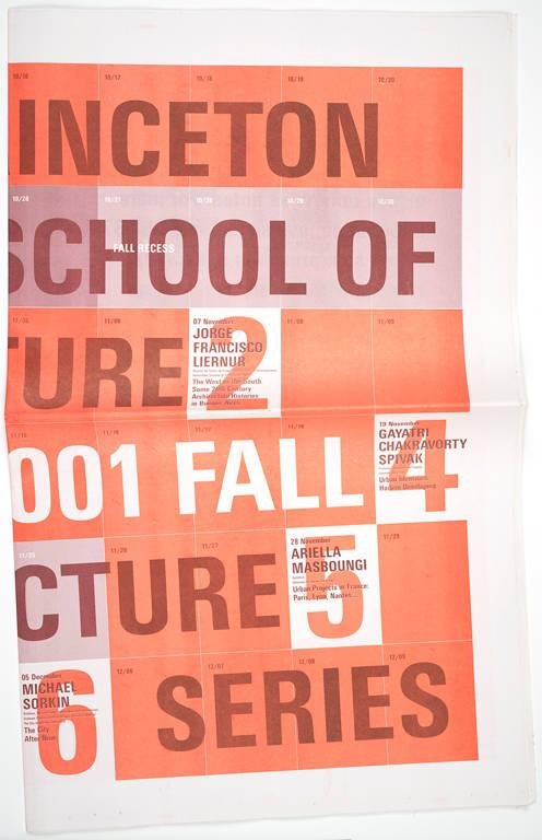 image of 'Princeton School of Architecture 2001 Fall Lecture Series poster'
