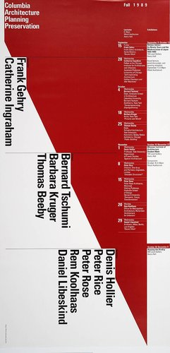 Columbia University School of Architecture, Planning, and Preservation, Fall 1989 Lecture Series Poster