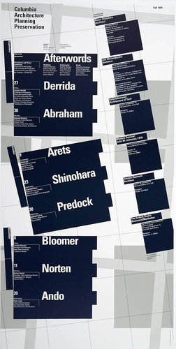 Columbia University School of Architecture, Planning, and Preservation, Fall 1991 Lecture Series Poster