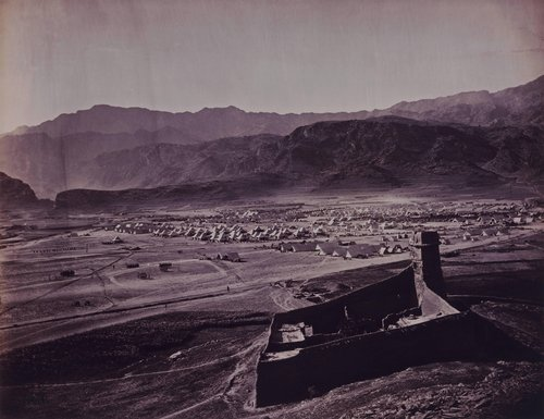"""Landi Kotal Camp. Looking East Towards Ali Musjid,"" from the portfolio Burke + Norfolk: Photographs from the War in Afghanistan by John Burke and Simon Norfolk"