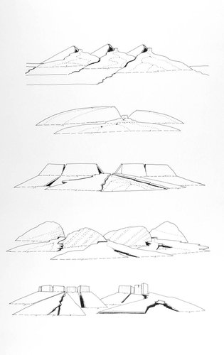 Geomorphic Conversation: Folded Profile, from the series Civilizing Terrains, 1989