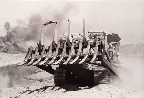 Man Operating Bulldozer, from the series Death of a Valley