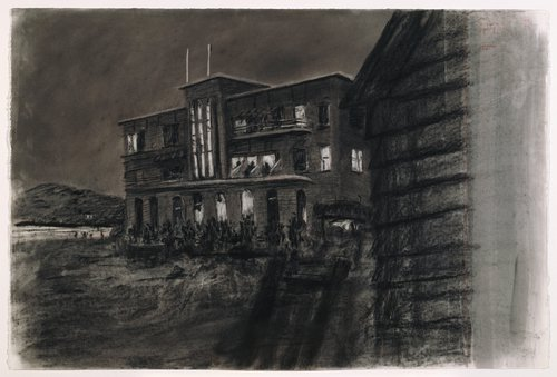 Drawing for the film Tide Table: Beach Hotel at Night