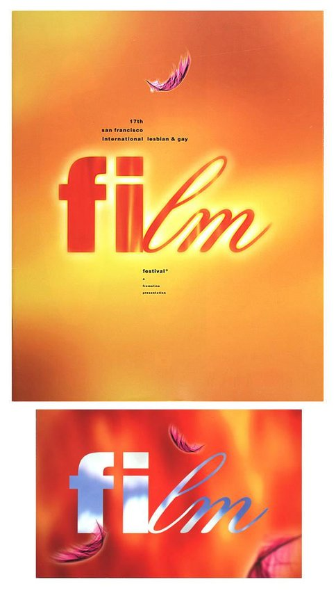 image of 'Frameline's 17th San Francisco International Lesbian and Gay Film Festival Catalogue and Postcard'