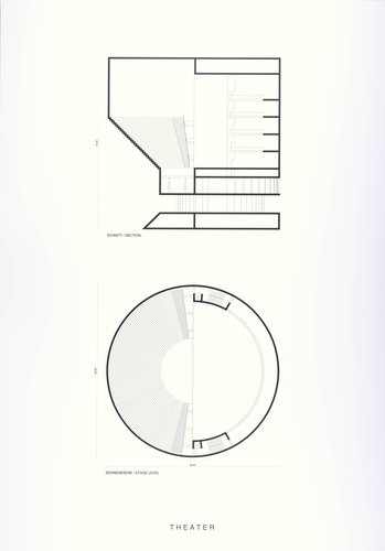 Silent Architecture [Theater section and plan]