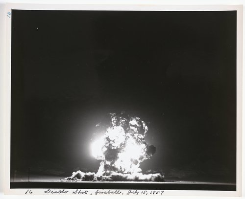Diablo Shot, fireball, July 15, 1957, from Atomic Tests in Nevada