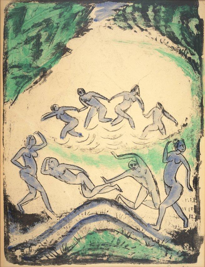 image of 'Tanzende und Badende am Waldach (Dancing and Bathing at Waldach)'