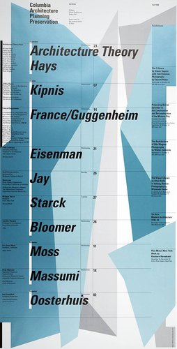 Columbia University School of Architecture, Planning, and Preservation, Fall 1998 Lecture Series Poster