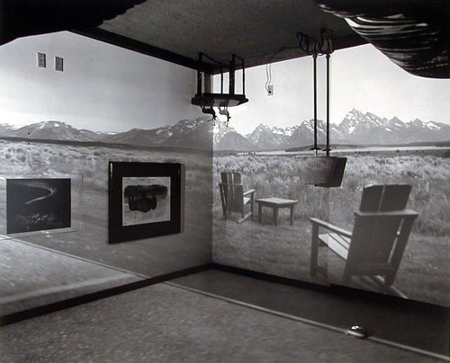 Camera Obscura Image of the Grand Tetons in Resort Room