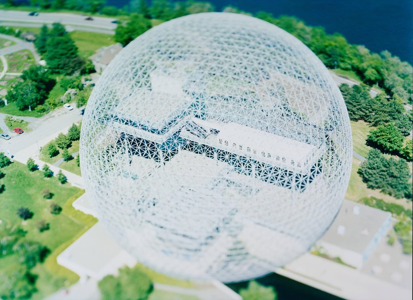 image of 'site specific_ MONTREAL 04 [Buckminster Fuller Dome]'