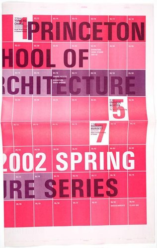 Princeton School of Architecture 2002 Spring Lecture Series poster