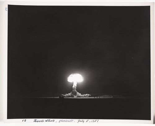 Atomic Tests in Nevada [Hood Shot, fireball, July 5, 1957]