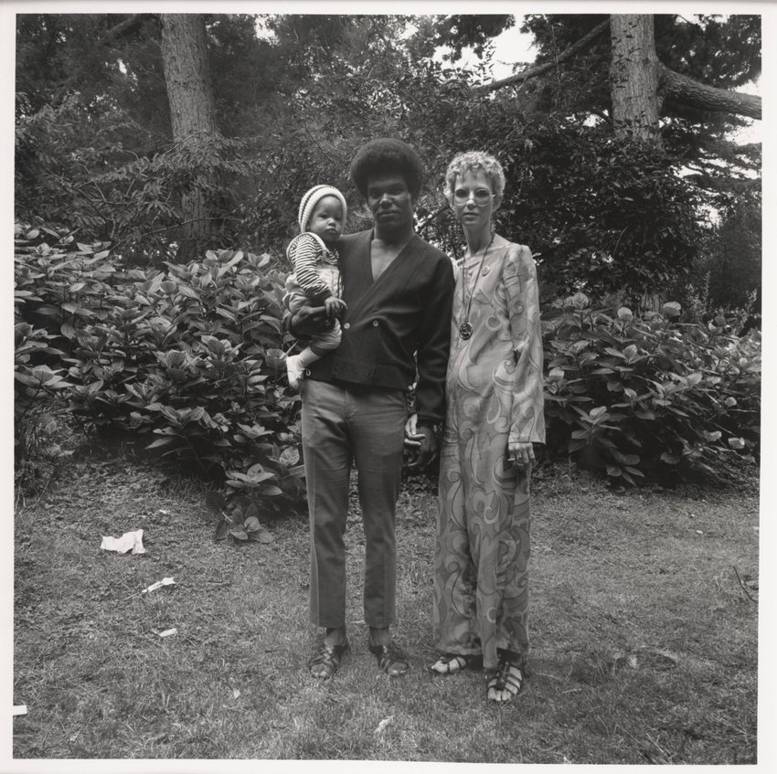 image of Interracial Couple and Baby, Golden Gate Park, August, 1968