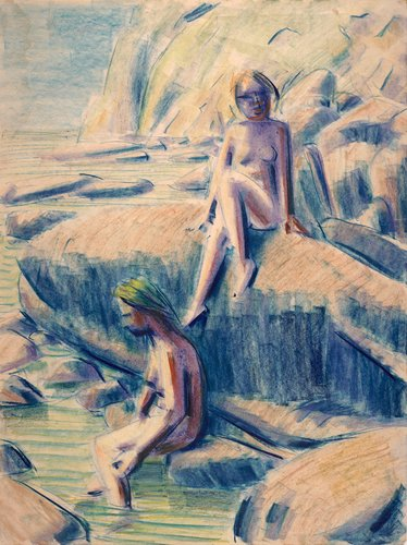 Two Nudes at Water