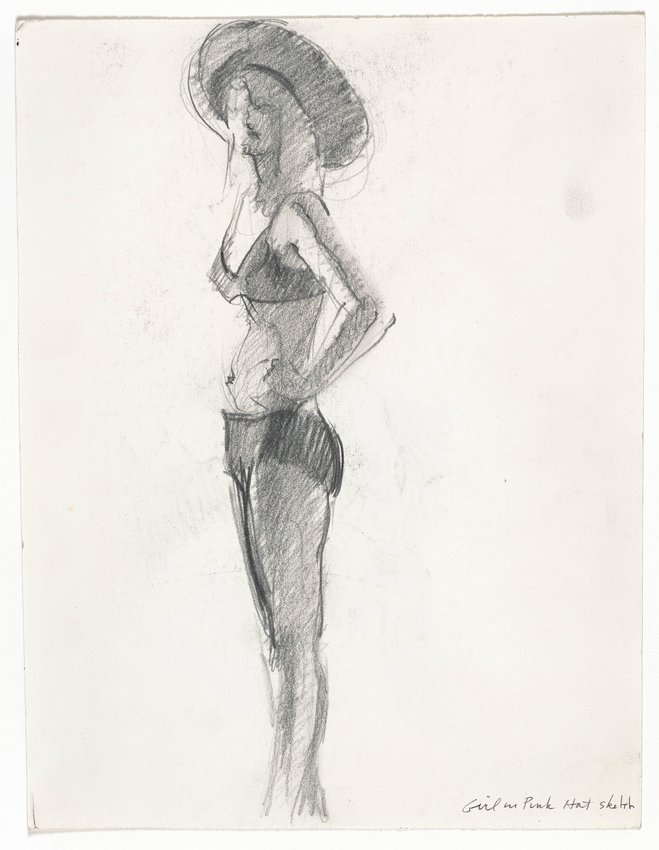 "image of Sketch for ""Girl with Pink Hat"""