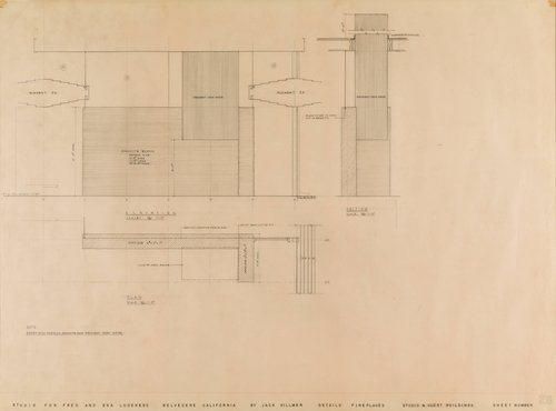 Drawing for Ludekens House, Belvedere, California
