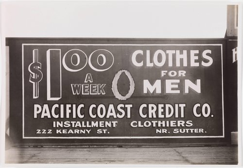 Pacific Coast Credit Co. Billboard