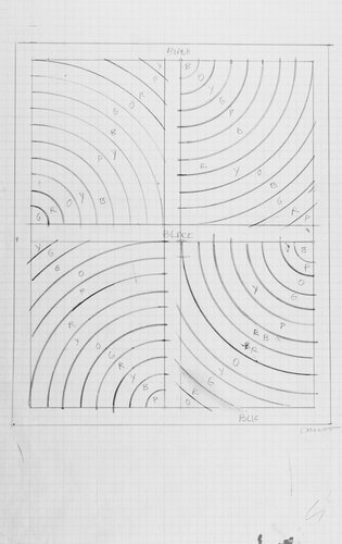 Working drawing for Wall Drawing 936