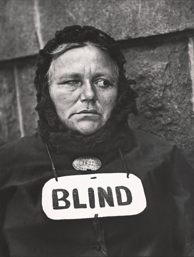 Blind Woman, New York, from Paul Strand: Portfolio Three