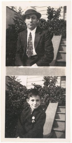 Untitled [Two photographs of same young man taken 10 years apart]