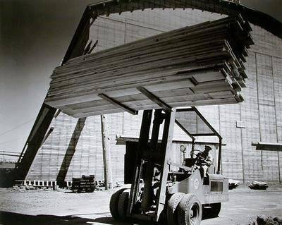 image of 'Untitled (Nose Lift Truck), from the Red River series'