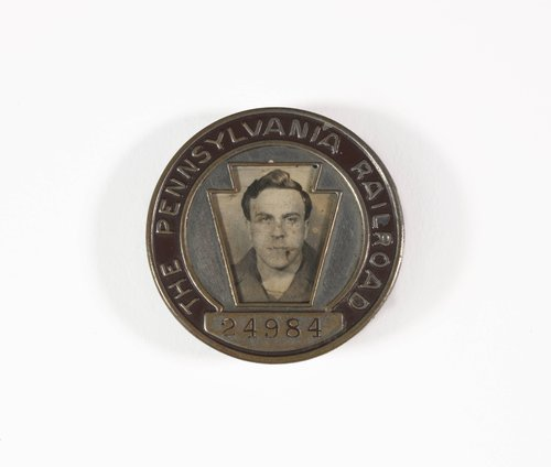 Untitled [Identification badge from the Pennsylvania Railroad]