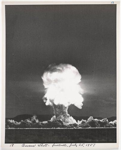 Atomic Tests in Nevada [Owens Shot - fireball, July 25, 1957]