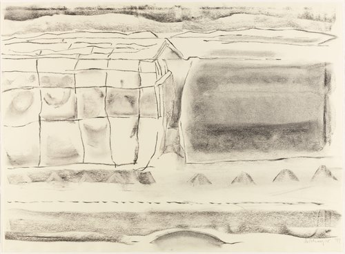 Untitled (Landscape with roofline)