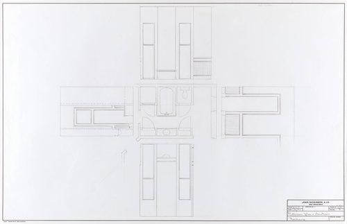 Bathroom plan and elevations for Firehouse