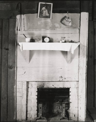 Fireplace and Objects in Floyd Burroughs' Bedroom, Hale County, Alabama, Summer