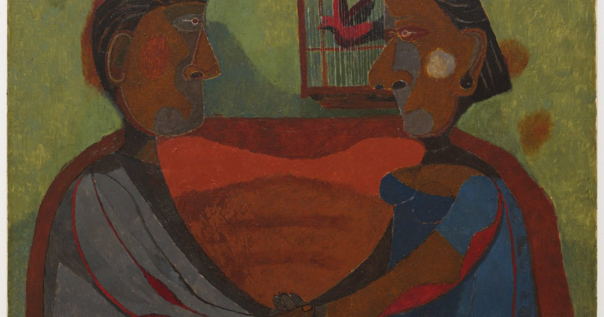 Rufino tamayo the lovers 1943 sfmoma for Mural rufino tamayo