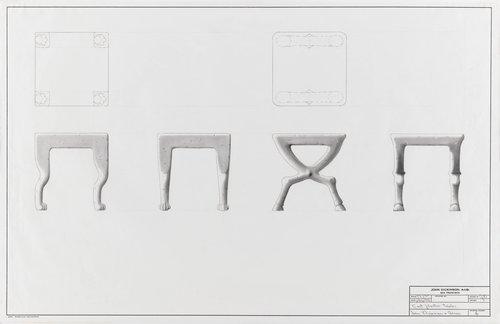 Cast plaster tables for John Dickinson & Associates