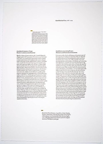 "Rendering of the ""Corollaries Concerning Tropes, Monsters and Poetic Transformations,"" from the portfolio Vico Wooden Letters"