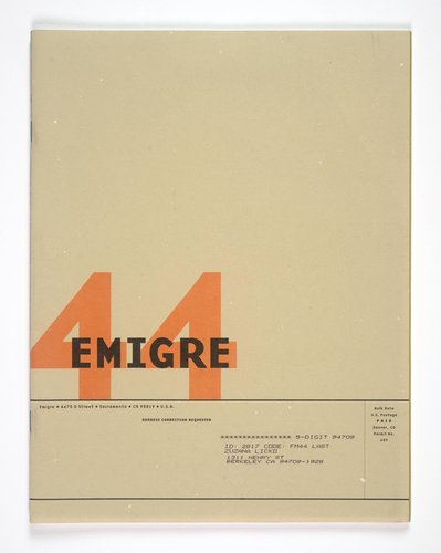 Emigre magazine, no. 44 (Design as Content)