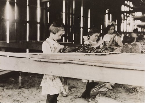 Three Girls in a Factory