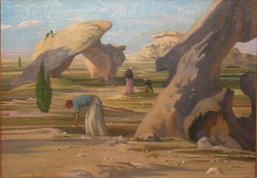 image of 'Vieilles femmes dans les rochers (Old Women among the Rocks)'