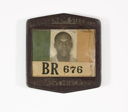 Untitled [Identification badge from Bethlehem Steel Co. Sparrow Point Plant]
