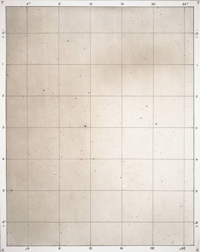 Star map, from the album Photographische Sternkarten (Photographic Star Maps)