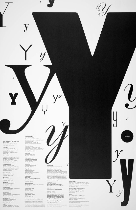 image of 'Yale School of Architecture poster for lectures, exhibitions, and symposia'