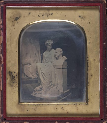 Untitled [Interior of a sculptor's studio, possibly Boston or perhaps Memorial Statuary for Mount Auburn Cemetery]